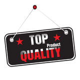 Top quality sticker. Colorful sticker with the text top quality product Stock Photo
