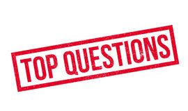 Top Questions rubber stamp Stock Photography