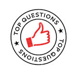 Top Questions rubber stamp Stock Image