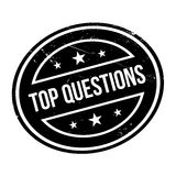 Top Questions rubber stamp Royalty Free Stock Image