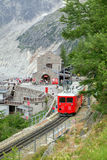 The top railway station on Montenvers (Mer de Glace), France Stock Photos