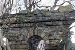 Top of the Ramble Stone Arch Royalty Free Stock Images