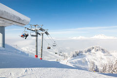 Top of Ranfoilly Express Chair Lift, Morzine Stock Photography