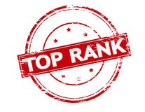 Top rank. Rubber stamp with text top rank inside,  illustration Royalty Free Stock Photos