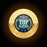 Top rated golden insignia - appreciated stock illustration