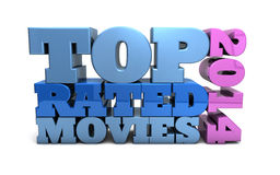 Top Rated Movies of 2014 Royalty Free Stock Photography
