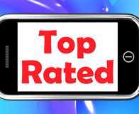 Top Rated On Phone Shows Best Ranked Special Product Stock Photography