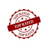 Top rated stamp illustration. Top rated red stamp seal stamp illustration Royalty Free Stock Photo