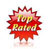 Top rated red star icon. Illustration of top rated red star icon Royalty Free Stock Photo