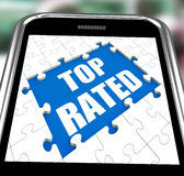 Top Rated Smartphone Means Web Number 1 Royalty Free Stock Photography