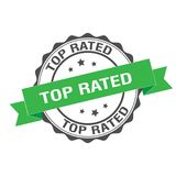 Top rated stamp illustration. Top rated stamp seal illustration design Royalty Free Stock Image