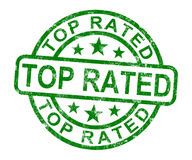 Top Rated Stamp Shows Best Services Or Products. Top Rated Stamp Showing Best Services Or Products Royalty Free Stock Images
