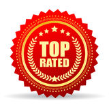 Top rated. Star icon illustration Royalty Free Stock Photography