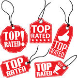 Top rated tag set, vector illustration Royalty Free Stock Photo