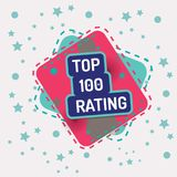 Top 100 rating. Vector color banner quality Royalty Free Stock Images