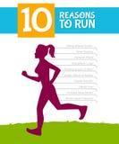 10 top reasons to run. Vector illustration of 10 top reasons to run Stock Photo