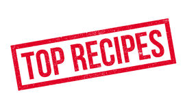 Top Recipes rubber stamp Royalty Free Stock Image