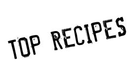 Top Recipes rubber stamp Royalty Free Stock Photo