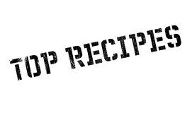 Top Recipes rubber stamp Royalty Free Stock Images