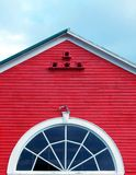 Top Of Red Barn. This is top of barn and silo image Stock Photography