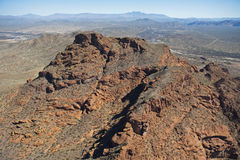 Top of Red Mountain Royalty Free Stock Images
