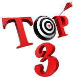 Top 3 red word with target Royalty Free Stock Photography