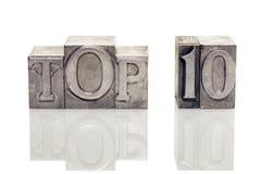 Top 10 ref Stock Image