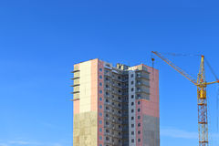 Top of residential building under construction Stock Images