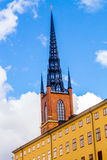 Top of the Riddarholm Church. (Vertical View Stock Photography
