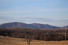 Top of the Ridgeline. Blue Ridge Parkway Royalty Free Stock Photo