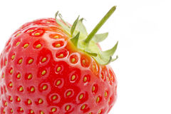 Top of ripe red strawberry Stock Images
