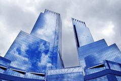 Modern buildings, new york city. Top of the rock, modern buildings new york city royalty free stock photos