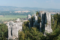 Top of Rock town. In Czech Republic Stock Photography