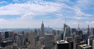 South Manhattan Panorama from Top of the Rock Stock Photography