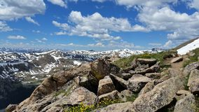 On Top of the Rockies. Mountain Peak Stock Images