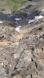 Top of the Rocks. Looking down near the summit of Longs Peak Royalty Free Stock Images