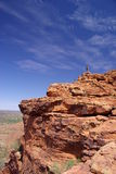 On Top of Rocky Outcrop stock images