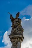 Top of the rococo Fountain of Saint George, Trier, Germany Royalty Free Stock Photo