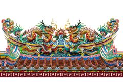 Chinese dragon pavilion stock images