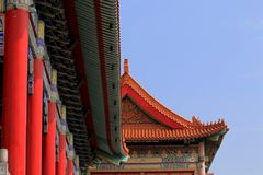 Top roof of chinese temple. Colorful on the top roof of chinese temple in Bangkok Royalty Free Stock Photography