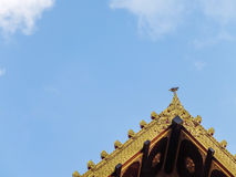 Top roof temple and sky Royalty Free Stock Image