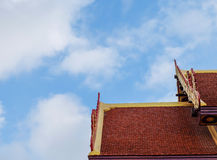 Top roof temple and sky Royalty Free Stock Photo