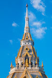 Top of roof Thai temple,Sothon Temple. Chachengsao in Thailand stock photography