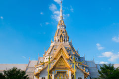 Top of roof Thai temple,Sothon Temple. Chachengsao in Thailand stock photos