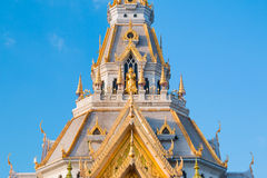 Top of roof Thai temple,Sothon Temple. Chachengsao in Thailand stock image