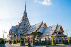 Top of roof Thai temple,Sothon Temple. Thai temple,Sothon Temple,Chachengsao in Thailand stock photos