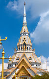 Top of roof Thai temple Royalty Free Stock Photo