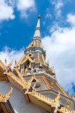 Top of roof Thai temple Stock Photo