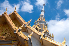 Top of roof Thai temple Royalty Free Stock Images