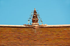 Top of roof traditional Thai style temple Stock Image